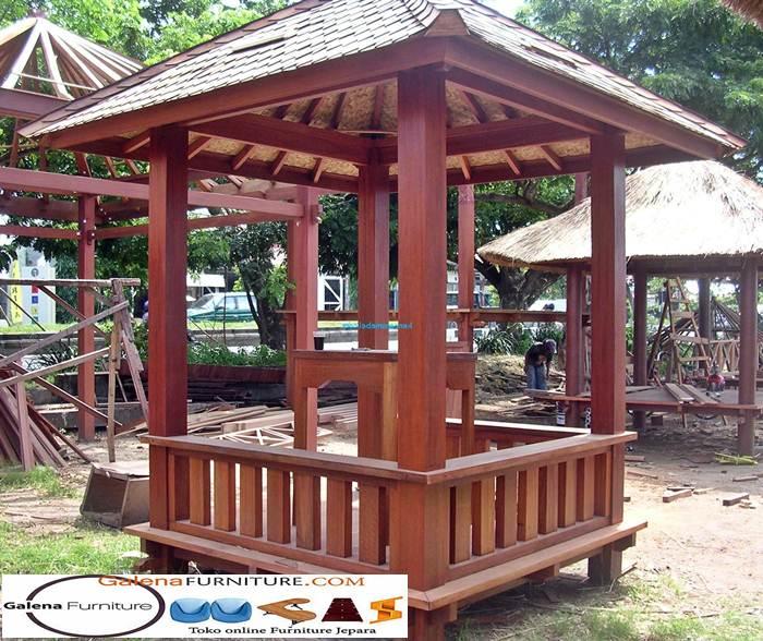 gazebo kayu nangka baru