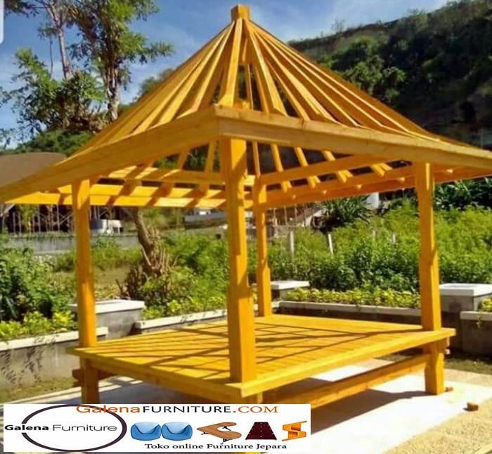 gazebo kayu nangka berkualitas
