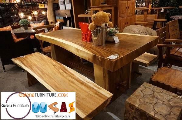 meja makan kayu meh murah