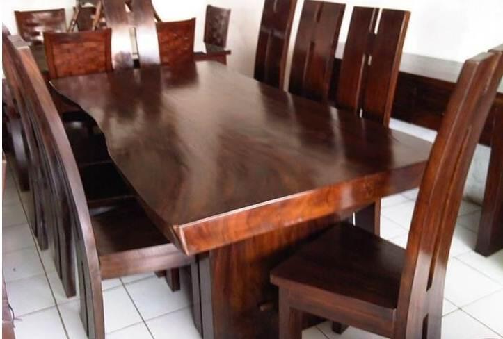 Meja Makan Unik Kayu Munggur Solid