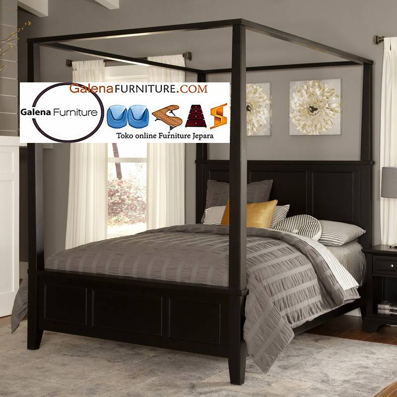 tempat tidur kanopi klasik