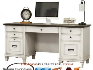 Jual Meja Kantor Putih Semarang Minimalis