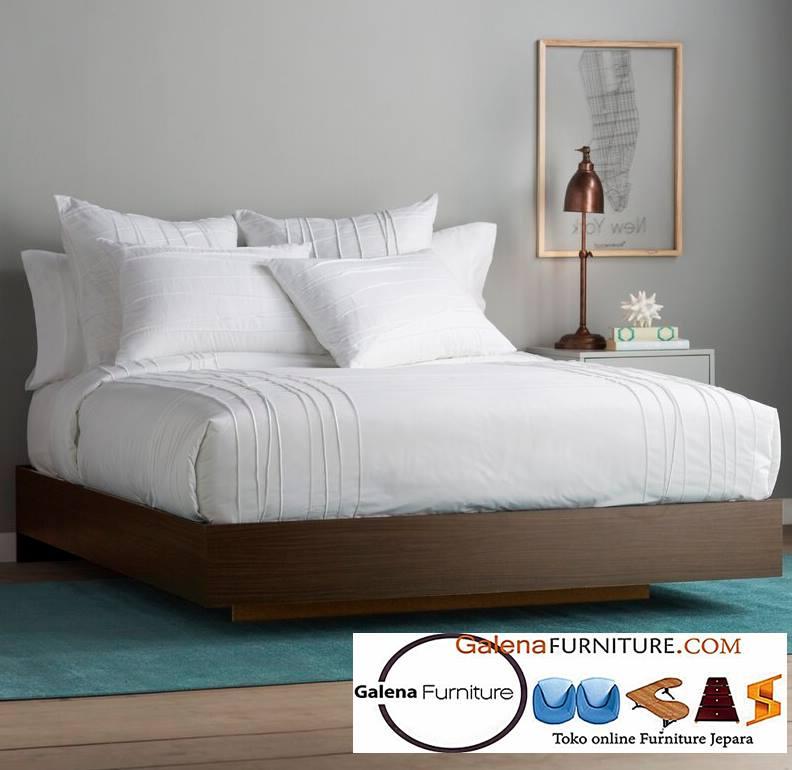 Ranjang Tidur Pendek Solo Minimalis Kayu Jati