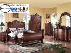 set kamar tidur klasik di pekanbaru