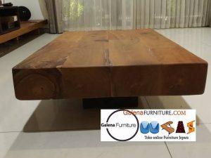 meja tamu kayu utuh