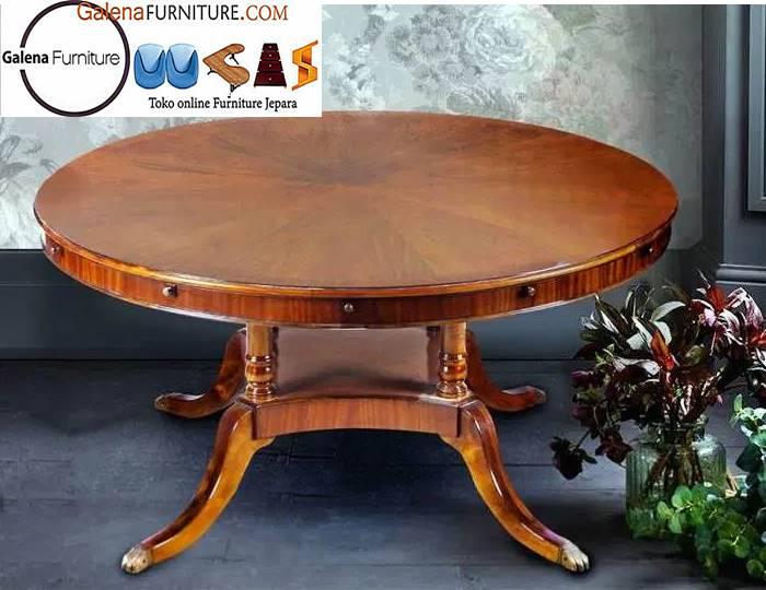 meja antik kayu mahoni