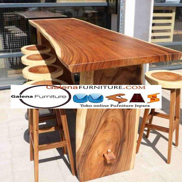 meja cafe kayu trembesi