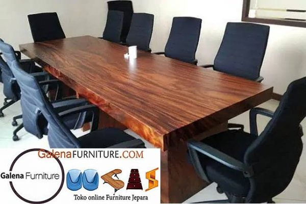 meja rapat kayu trembesi