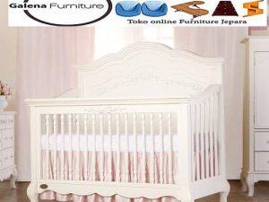 Tempat Tidur Bayi Perempuan Duco Putih
