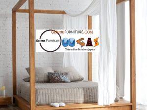 tempat tidur kelambu kayu jati
