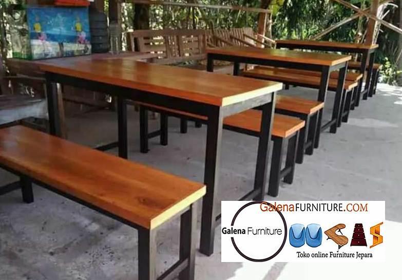 Jual Bangku Kayu Cafe Minimalis