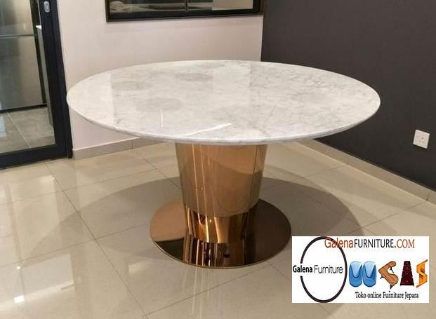 Jual Meja Makan Marmer Putih Desain Terbaru