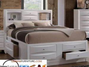 Jual Tempat Tidur Laci Depok Minimalis Kayu Jati