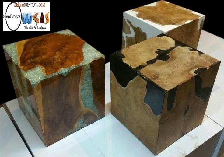 Kursi Trembesi Stool Terunik di Dunia Kayu Solid