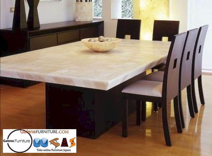 Meja Makan Granit Keramik Minimalis Mewah Harga Terjangkau