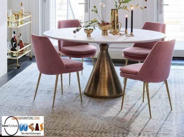 Meja Makan Granit Putih Minimalis Harga Murah
