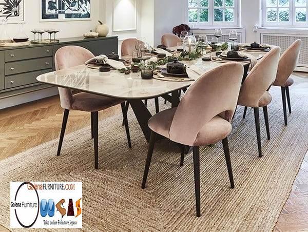 Jual Meja Makan Marmer Palembang Desain Modern