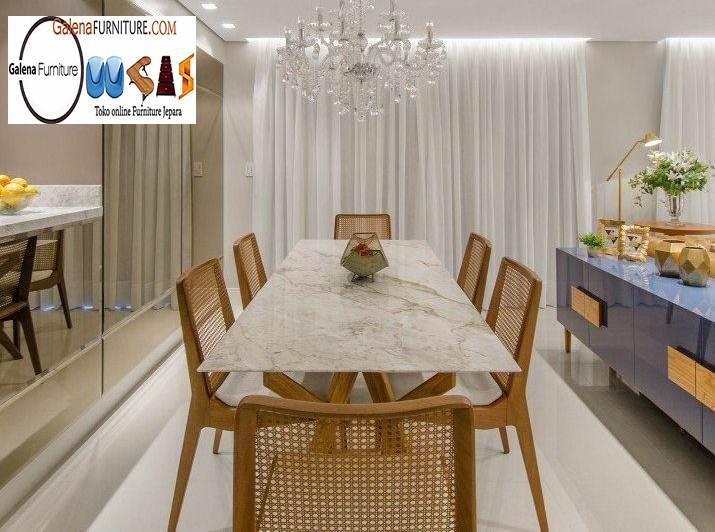 Jual Meja Makan Marmer Bandung Desain Terbaru