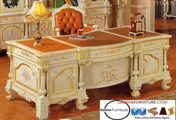 Jual Meja Kantor Direktur Tengerang Desain Mewah Klasik