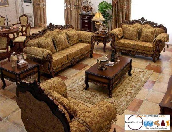 Jual Sofa Mewah Ruang Keluarga Desain Klasik