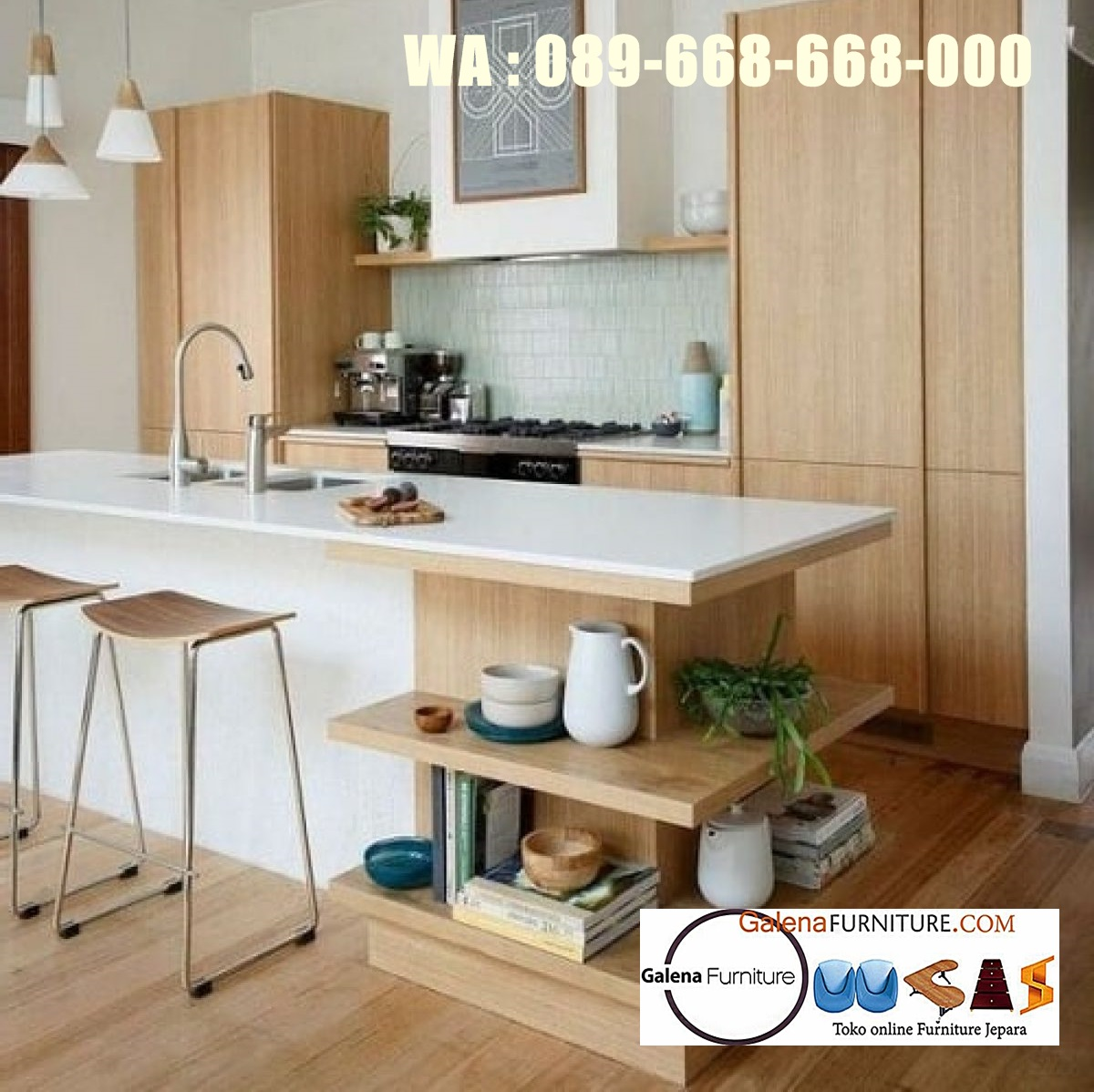 Jual Kitchen Set Hpl Jakarta Desain Modern